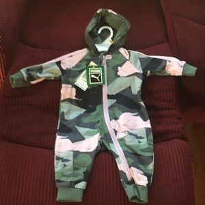 NWT'S Puma Baby Girls 0-3 Months Zip Up Outfit